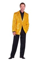 Gents 2017 style Sequinned Cabaret Jackets - Gold - $73.01