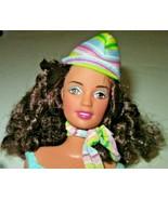 Barbie Doll TERESA curly hair, weariing top skirt hat & scarf, belly but... - $19.99