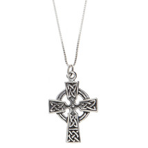 Sterling Silver Celtic Cross Pendant Necklace - $40.19+