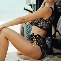 Women High Waist Swimwear Bikini Set Push-up Padded Bra Bathing Suit Swimsuit image 10