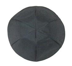 Black Fabric Kippah Yarmulke Yamaka Israel Large 25 cm Judaica image 3