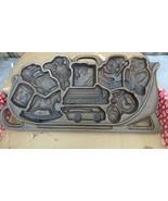 John Wright Sleigh Full of Toys Cast Iron Baking Pan - $20.00