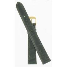 Speidel 14mm Black Wild Crocodile Grain Gold Tone Buckle Watch Band AU08892N - $24.70