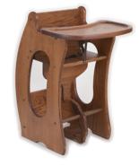 HIGH CHAIR Desk ROCKING HORSE 3-in-1 Amish Handmade Children Furniture S... - $372.37