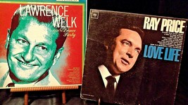 """Ray Price """"Love Life"""" and Lawrence Welk """"Your TV Dance Party"""" Record AA20-RC2142"""