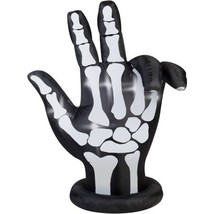 Gemmy Airblown Large Inflatable Halloween Decoration, Spooky Skeleton Ha... - $39.36