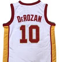 Demar Derozan #10 College Basketball Jersey Sewn White Any Size image 2