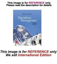 Operations Management by William J Stevenson, 14th (International Edition) - $59.90