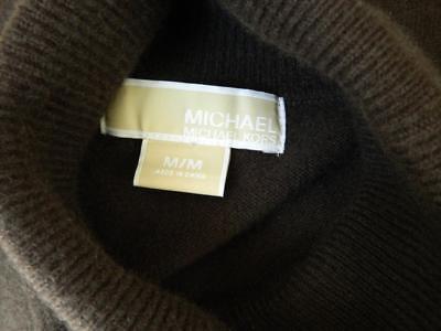Michael Kors Dress Cashmere Dark Brown Turtleneck M mint