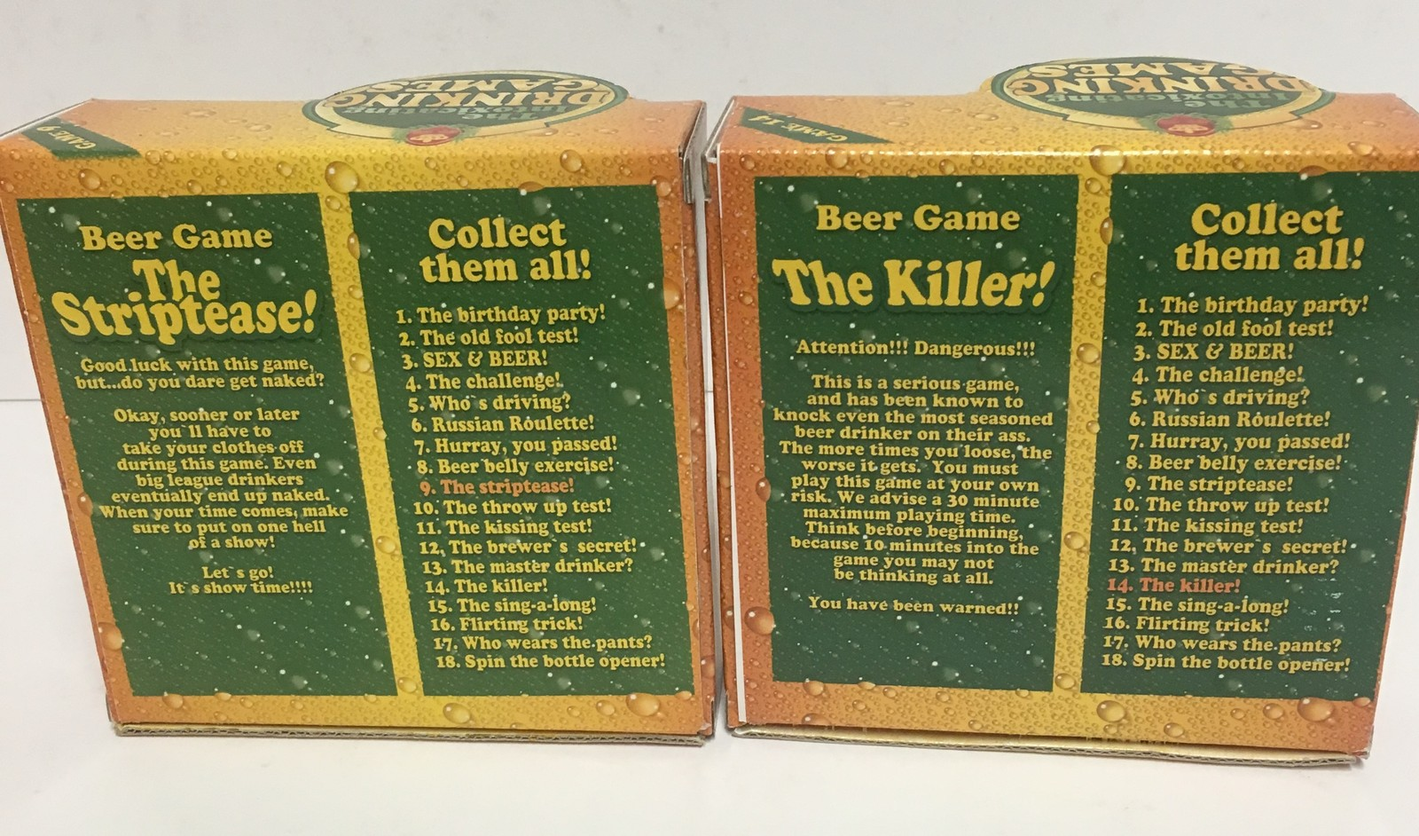 Beer Games The Striptease and The Killer #9 #14 ADULTS Drinking Games image 5