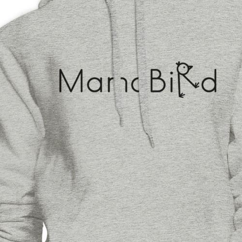 MamaBird Unisex Grey Hoodie Lovely Design Cute Gift Ideas For Wife image 2