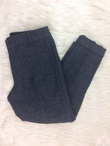 Ann Taylor Loft Womens 10 Dress Trouser Pants MARISA Fit Blue Wool J25 - $11.75