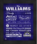 "Colorado Rockies ""Family Cheer"" 13 x 16 Framed Print - $39.95"