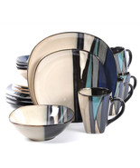 Gibson Elite Althea 16-Piece Dinnerware Set, Teal - $90.65