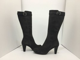 La Canadienne Mala Moka Brown Suede Women's Knee High Heel Waterproof Bo... - $106.21