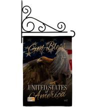 American Eagle Burlap - Impressions Decorative Metal Fansy Wall Bracket Garden F - $33.97