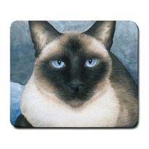 Mousepad Mouse Pad Computer Mat Cat 547 siamese blue art painting by L.D... - $15.99