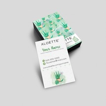 100 Aloette Business Card - Watercolor Aloe - $34.90