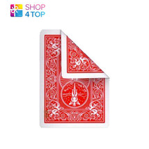 BICYCLE RIDER RED DOUBLE BACK SINGLE CARD NO FACE MAGIC TRICKS GAFF PLAY... - $1.95