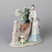 Lladro 01008020 Oriental Moon Glazed Porcelain Figurine New - $1,650.00