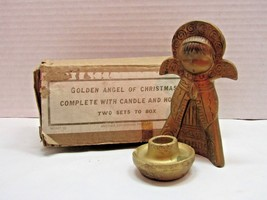 Commodore Golden Angel of Christmas Candle Holder - $20.79