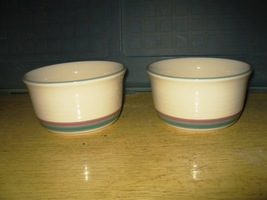 "(2) Pfaltzgraff ""Everything"" Cereal Bowls ""Juniper""- 5 1/2"" - $9.99"