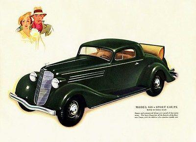 Primary image for 1935 Buick Model 46S Sport Coupe - Promotional Advertising Poster