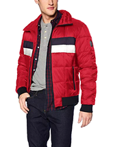 Tommy Hilfiger Men's Quilted Bomber Hoody Colorblock Jacket Coat Choose ... - $108.47+