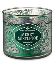 Bath & Body Works Merry Mistletoe Three Wick 14.5 Ounces Scented Candle - $22.49