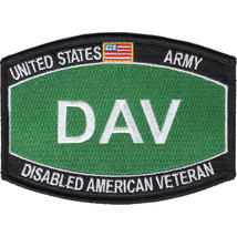 US Army Administrative Disabled American Veteran Occupational Specialty Patch - $9.89