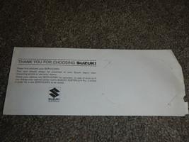 Suzuki Service Card - $9.36