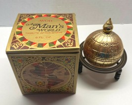 Vintage Avon A Man's World Tribute After Shave 75% Full Globe with Stand... - $9.95
