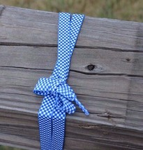 """Checkerd Blue White Fat Skater Shoe Laces 45"""" Long Enough For 7 Pairs Eyelets"""