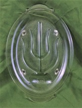VTG COLLECTIBLE GLASBAKE #380 TREE OF LIFE OVAL PLATTER MADE IN THE U.S.A. - $25.99