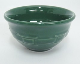 Longaberger Pottery Woven Traditions Ivy Green Dessert Bowl Very Good - $9.89