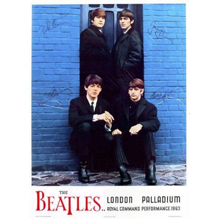 Beatles london palladium red lettering 22 x 33