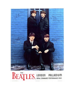 THE BEATLES POSTER 22x33 IN LONDON PALLADIUM 1963 SIGNATURES BLUE WALL R... - $29.99
