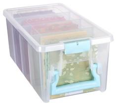 ArtBin Art Craft Storage Box Super Semi-Satchel-Clear with Aqua Handle, ... - $23.04