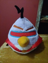 """2012 Angry Birds Space Lazer Bird Purple Red Cape Plush 8"""" Pre-Owned EUC - $14.60"""
