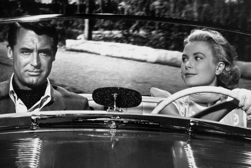 To Catch A Thief Cary Grant Grace Kelly in Sunbeam Alpine 18x24 Poster - $23.99