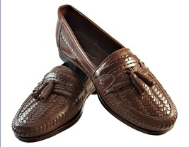 2ab15f09c80fc Stacy Adams Burgundy Leather Woven Kiltie Tassel Dress Casual loafer  Men  39 s US