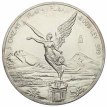 2009 .999 Silber Mexikanischer Libertad 5 Onzas mit / Kunststoff Kapsel - $237.36