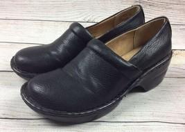 Bass Sheena Clog Shoes 7.5 Black Comfort Slip Ons - $19.79
