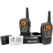 Midland LXT535VP3 24-Mile Camo GMRS Radio Pair Value Pack with Drop-in C... - $60.41