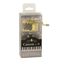 "Wild Eye Designs"" Fur Elise"" Wine'd Up Music Box Wine Stopper NIB - $16.99"