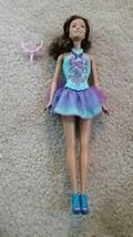 Vintage 1999 barbie turquoise butterfly flower designed top tutu skirt u... - $14.99