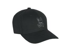Psycho Bunny Men's Cotton Embroidered Strapback Baseball Cap Hat B6A328Q1HT image 2