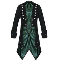 Men Vampire Tailcoat Gothic Black Jacket Steampunk Victorian Style Tailcoat - $84.99