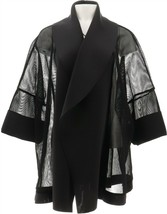 WynneLayers Mixed Media Jacket Black 1X NEW 668-114 - $49.48