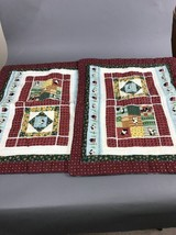 Pair of Quilted Country Farm Pillowcases 28 x 22 ( fits 26 x 20 ) - $18.61